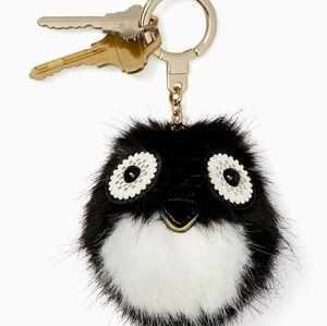 Kate Spade Penguin Keyfob / Pouf Bag Charm
